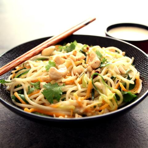 spaghettis de riz à la thaï