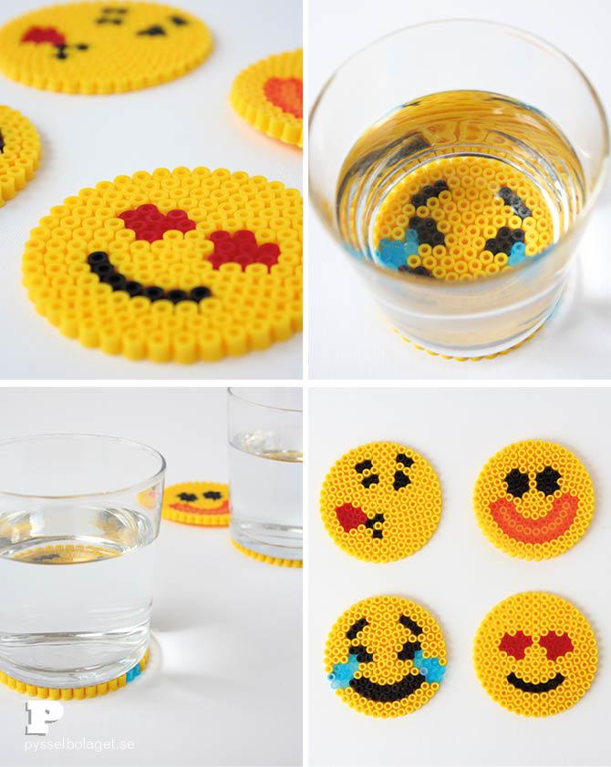 Emoji-bead-coasters-pysselbolaget