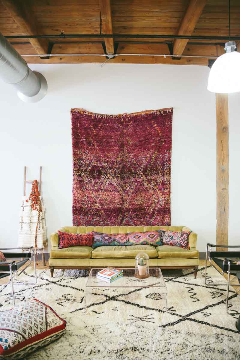 STUDIO TOUR: SEMIKAH TEXTILES // Design Sponge - Photography by Carley