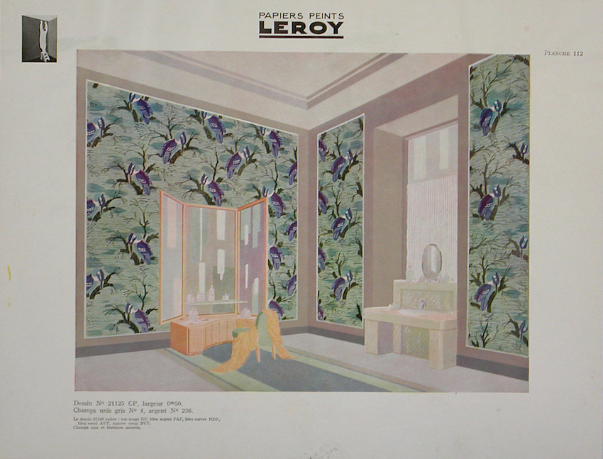 Sidewall Sample (France), 1929–30; Designed by Emile-Allain Seguy (French, 1890 - 1985); machine-printed on paper, with illustration; Overall: 73 x 46.5 cm (28 3/4 x 18 5/16 in.); Museum purchase from General Acquisitions Endowment and Friends of Wallcoverings Funds; 2001-14-33
