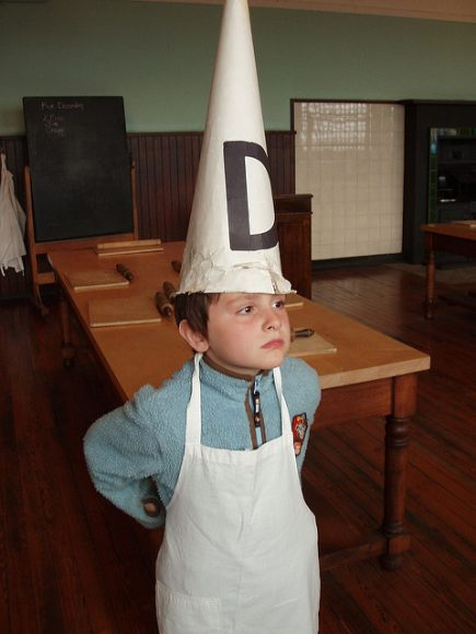 Dunce Tommy at Scotland Street school.