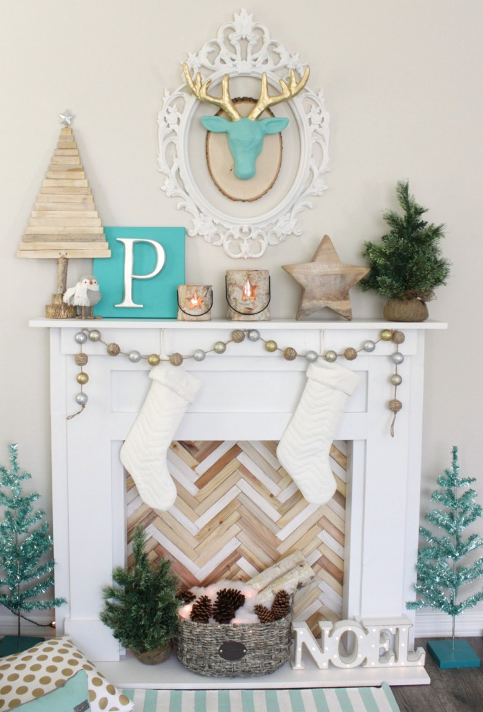 diy-faux-fireplace-mantel