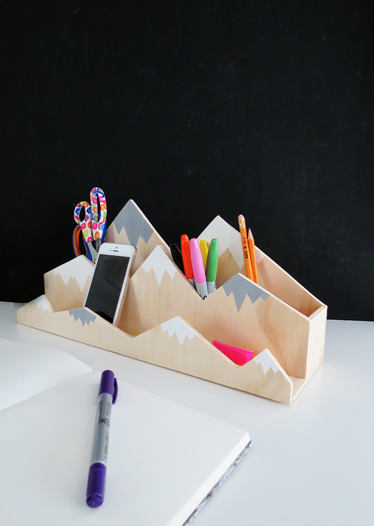 diy plywood desk organizer ohohblog