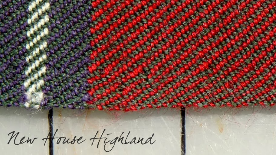 The traditional selvage woven by D. C. Dalgliesh. via New House Highland