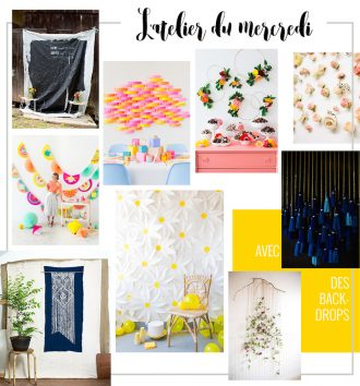 DIY : 9 backdrop ideas