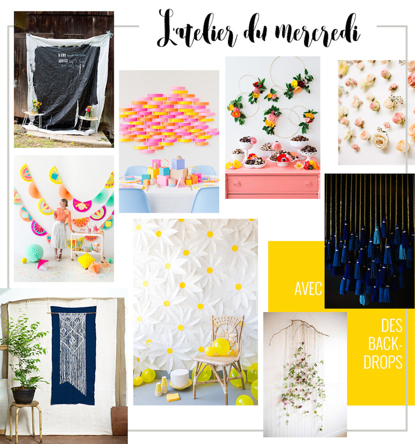 DIY : 9 backdrop ideas