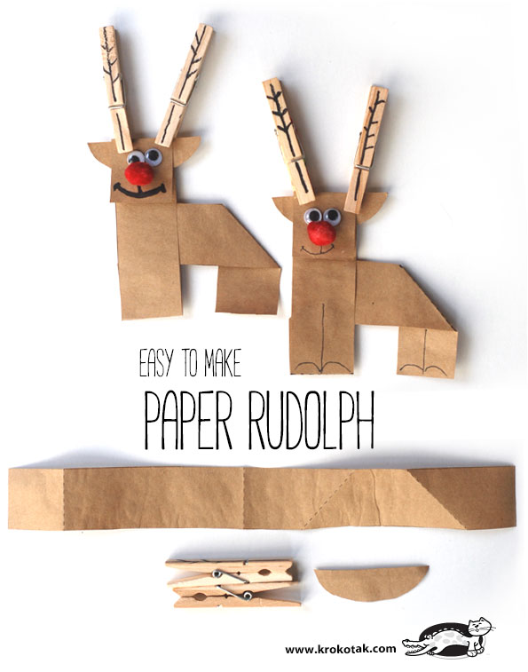PAPER RUDOLPH – EASY TO MAKE // Krokrotak