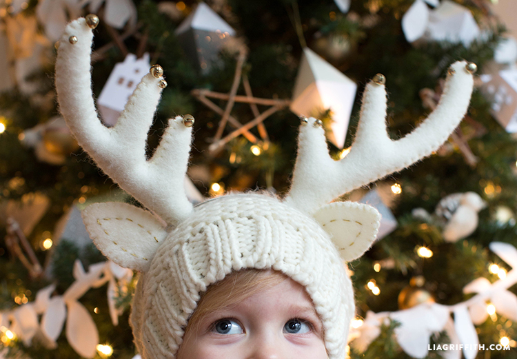 Felt reindeer headband // Lia Griffith