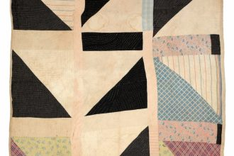 """Half Squares"" - Martha Pettway 1930s Cotton 80 x 73 inches Collection of Souls Grown Deep Foundation"