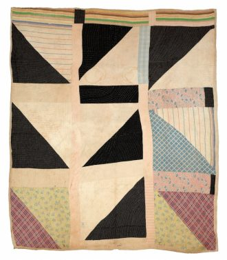 """""""Half Squares"""" - Martha Pettway 1930s Cotton 80 x 73 inches Collection of Souls Grown Deep Foundation"""