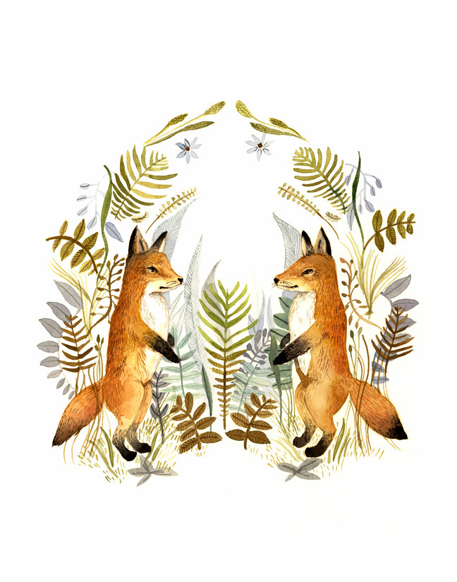 Fox Art by AmberAlexander