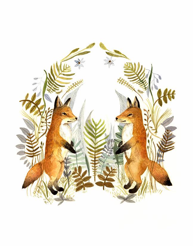 Fox Art by AmberAlexander