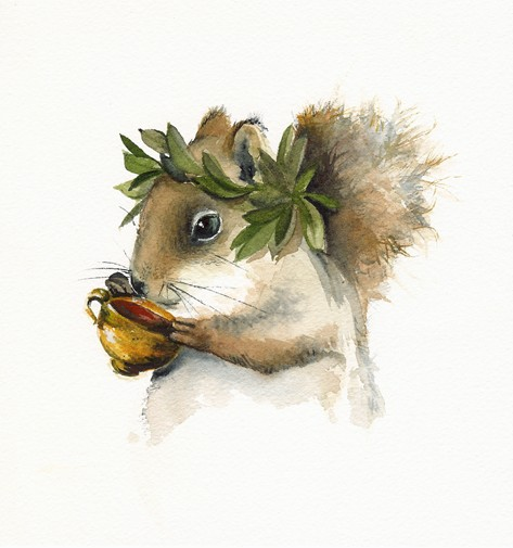 Squirrel art by AmberAlexander