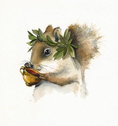 Squirrel art by AmberAlexander