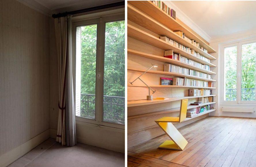 createurs d interieur avant apres-bibliotheque