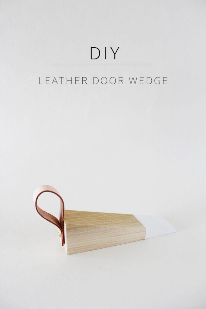 DIY LEATHER DOOR WEDGE Homemade by