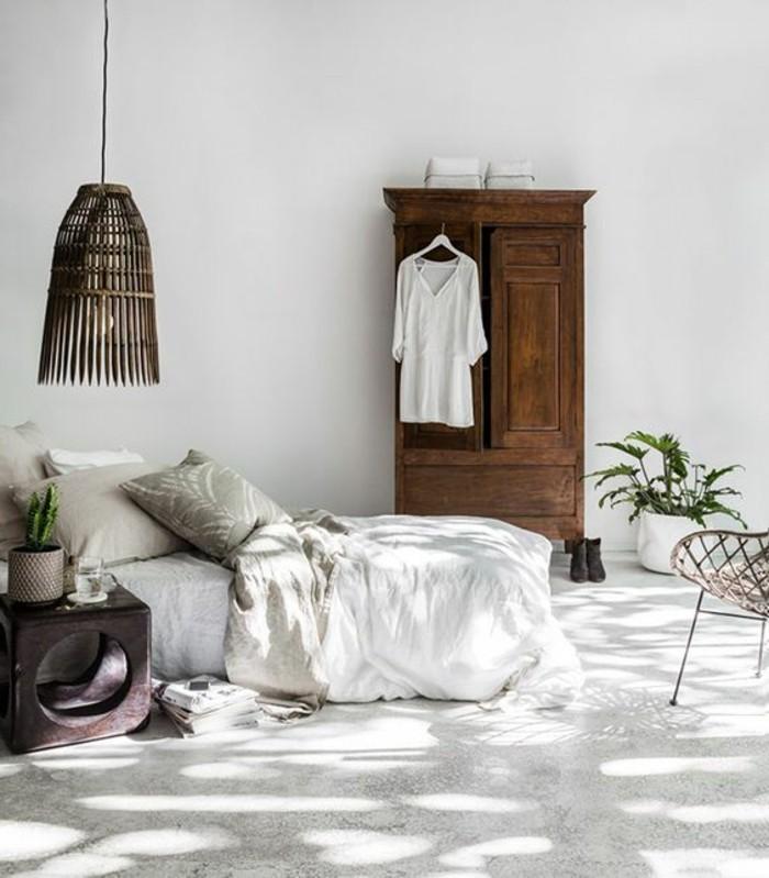 Beautiful chambre rustique chic contemporary design for Chambre rustique