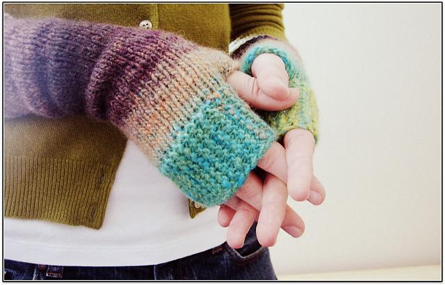 Modèle de mitaines au tricot