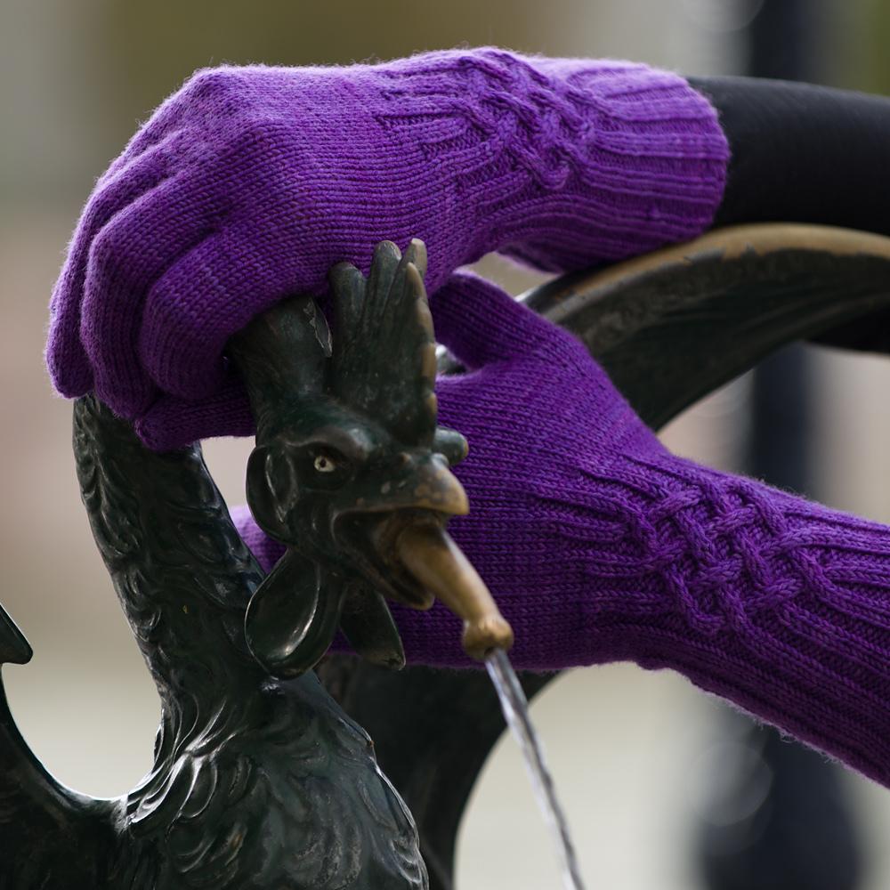 Modèle de gants au tricot