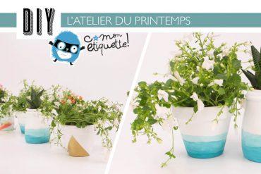 L'atelier du printemps avec C-MonÉtiquette : les pots de fleurs graphiques