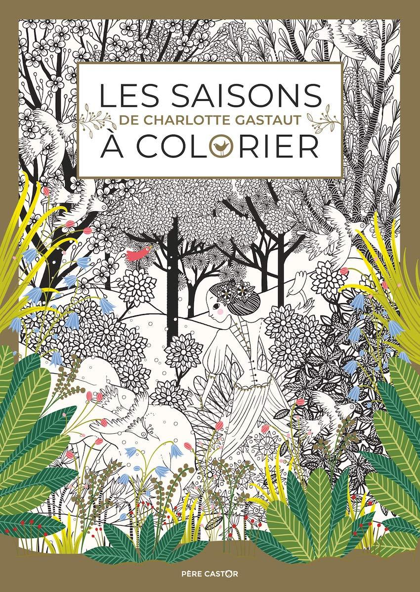 Coloriage Geant Animaux.Un Coloriage Des 4 Saisons Plumetis Magazine