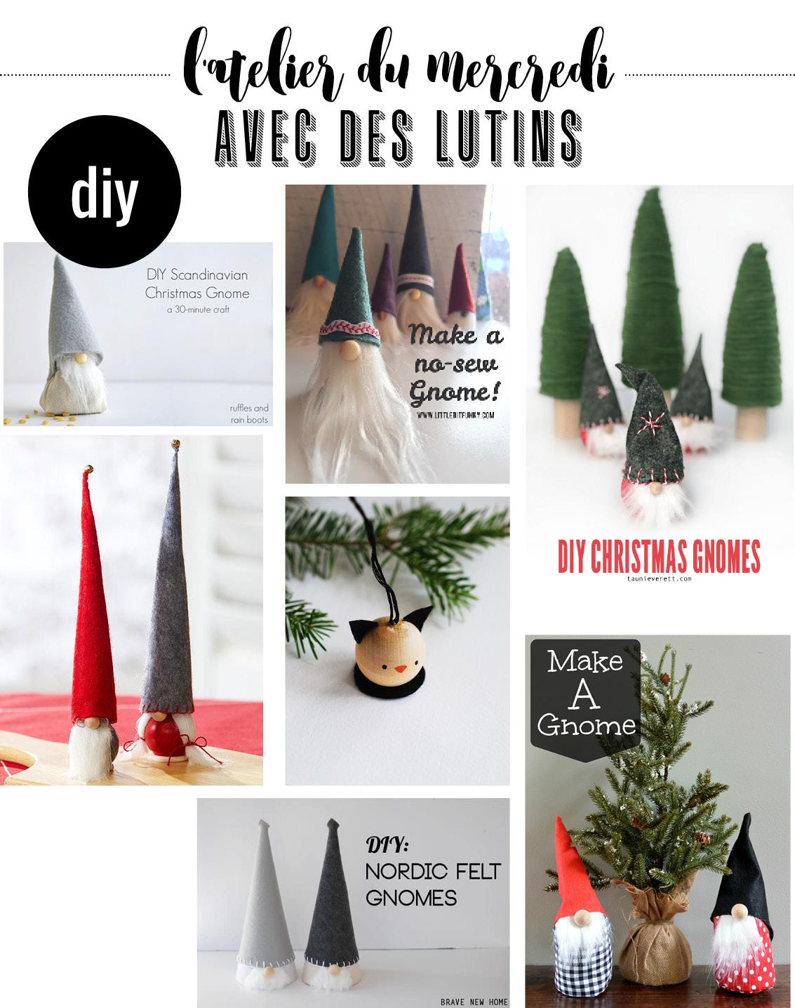 Fabriquer Deco Noel En Feutrine l'atelier du mercredi : avec des lutins - plumetis magazine