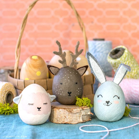 Painted Animal Easter Eggs // Lia Griffith