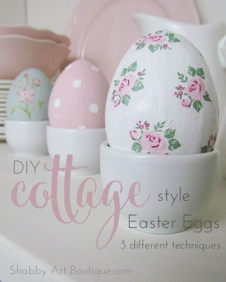 DIY Cottage Style Easter Eggs // Shabby Art Boutique