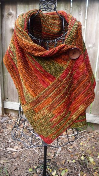 Buttoned Wrap by Paula Marshall