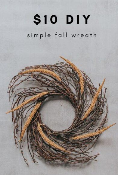 DIY Simple Fall Wreath for Less than $10 // Pretty Handy Girl