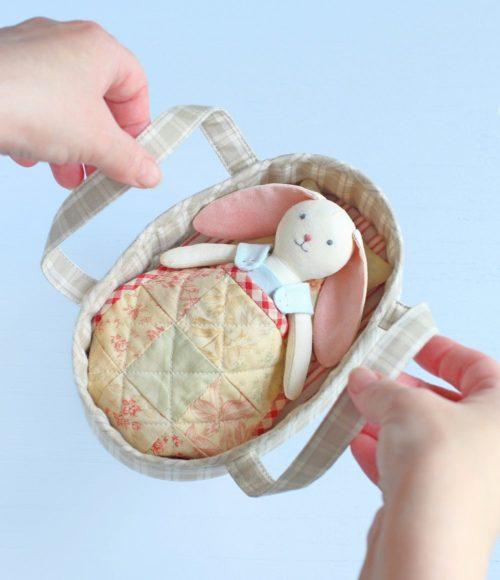 VecherniePosidelki pattern soft toy bunny