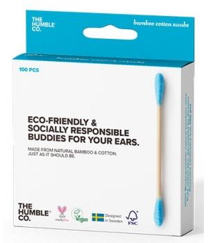 Cotons tiges naturels bambou Bleu biodégradables en bambou // Humble Brush chez mondebio.com 1,99€ les 100