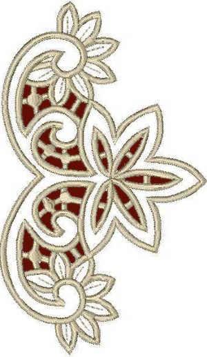 Machine Embroidery Lace Design